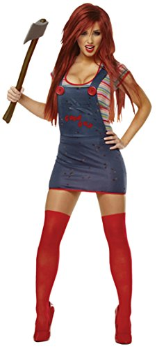 Franco American Womens Sexy Chucky Killer Scary Fancy Dress Halloween Costume