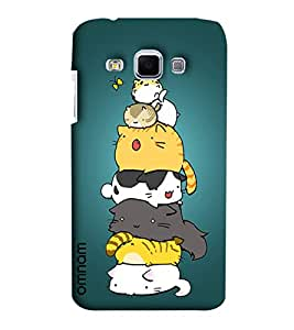 Omnam Too Many Cats Lying On Each Other And Enjoying Back Cover Case For Samsung Galaxy J3