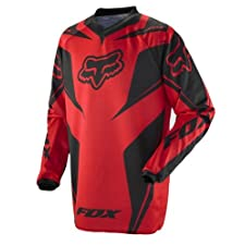 Fox Racing HC Race Youth Boys Off-Road/Dirt Bike Motorcycle Jersey - Red / Medium