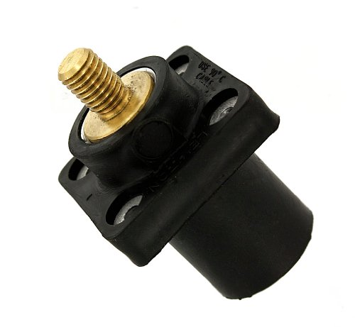 Plug Contact and Insulator Detachable Leviton 16D22-UE 16-Series Taper Nose Male Black Cam-Type connector