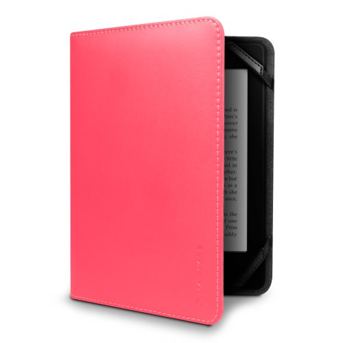 Marware Eco-Vue Genuine Leather Case Cover for Kindle, Pink (fits Kindle Paperwhite, Kindle, and Kindle Touch)