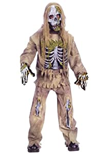 Big Boys' Skeleton Zombie Costume X-Small (3T-4T)