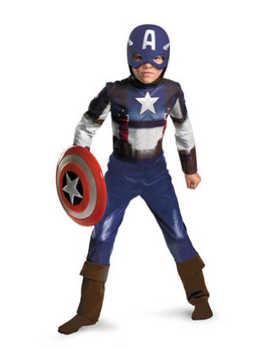 Captain America Classic Toddler Costume 3T-4T