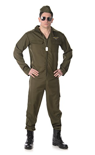 [Men's Fighter Pilot - Halloween Costume (XL)] (Military Costumes For Teens)