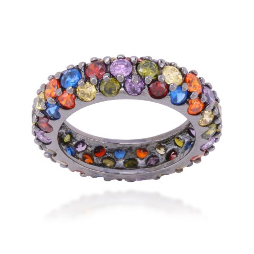 MULTI COLOR CZ ETERNITY BAND
