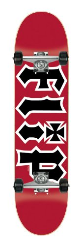 Flip HKD Red Complete Skateboard - Red/Black, 7.5 Inch