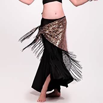 Glamorstar(TM) Belly Hip Scarf, New Belly Dance Costume Peacock Hip Scarf Tribal Fringe Tassel Belt 2 colours