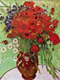 12X16 inch Van Gogh Canvas Art Repro Red Poppies and Daisies