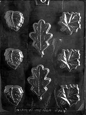 LEAF SOAP ASS'T Flowers, Fruits & Vegitables Candy Mold Chocolate