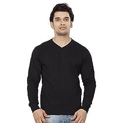 Clifton Mens Polar V-Neck Sweat Shirt - Black - Small