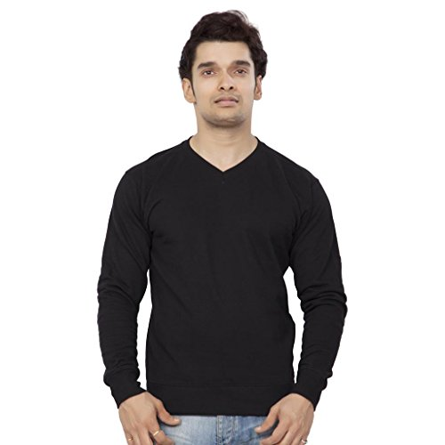 Clifton Mens Polar V-Neck Sweat Shirt - Black - Small