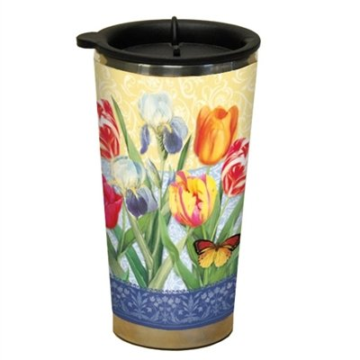 Lang Tulips And Irises Traveler Mug