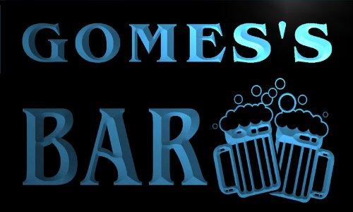 w001606-b-gomes-name-home-bar-pub-beer-mugs-cheers-neon-light-sign