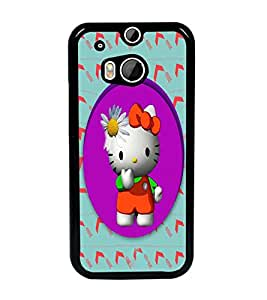 PrintDhaba Kitty D-3979 Back Case Cover for HTC ONE M8s (Multi-Coloured)