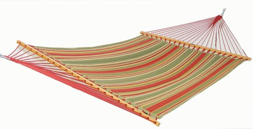 Pawleys Island Gardens Collection Large Quilted DuraCord Fabric Hammock, Trellis Stripe
