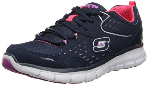 Skechers USA - Scarpe da ginnastica - Donna - Blu (Navy/Purple),  38 EU