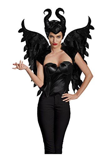 Halloween 2017 Disney Costumes Plus Size & Standard Women's Costume Characters - Women's Costume CharactersDisguise Women's Disney Maleficent Movie Maleficent Adult Wings Costume Accessory, Black, One Size