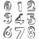 niceeshop(TM) 9 Piece Numbers Cut Outs Cookie Cutters Set