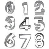 niceEshop(TM) 9-Piece Numbers Cut Outs Cookie Cutters Set