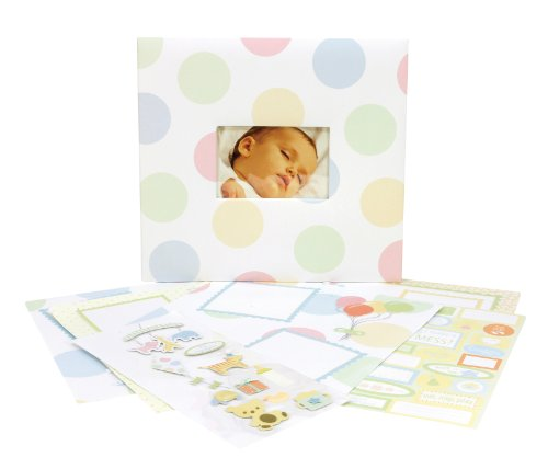 Tapestry by CR Gibson Scrapbook Complete Kit, Baby Parade, 12 by 12-Inch