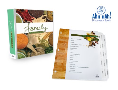 Family Recipe Organizer: LONG Index Tabs for Three-ring Binder with Cover