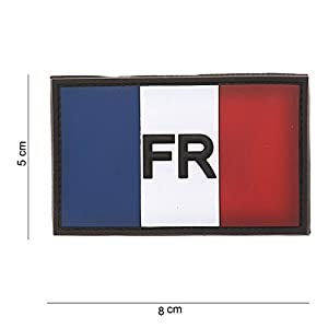 AlxShop - PATCH 3D PVC DRAPEAU FRANCE - VELCRO