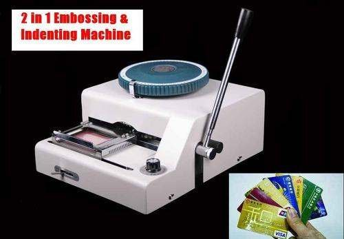 Embosser + Indentor Combo PVC Embossing Credit Card