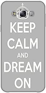 Snoogg Keep Calm And Dream On Solid Snap On - Back Cover All Around Protectio...