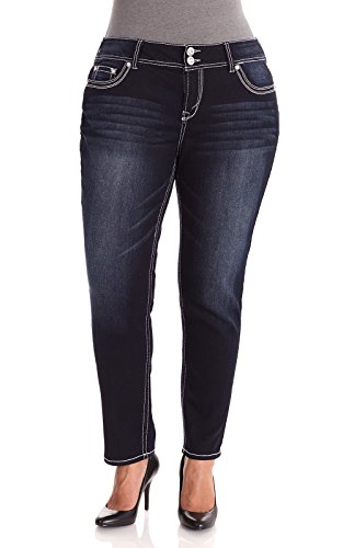 WallFlower Juniors Plus Size Luscious Curvy Skinny Jeans in