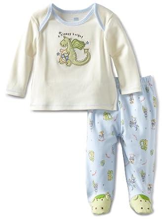 Vitamins Baby-Boys Newborn 2 Piece Footed Pajama Set Sleepy Night, Green, 3M
