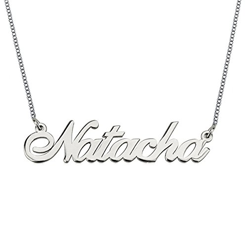 HACOOL 925 Sterling Silver Personalized Name Necklace Made with Any Name 16