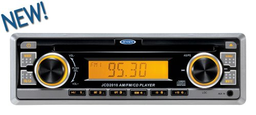 Jensen Jcd2010 Am/Fm/Cd Digital Audio Compact Stereo, 4X40W Output Power, Euro-Din (Sleeve-Mount) Chassis Design, Amber Led Illumination, Electronic Am/Fm Tuner (Us/Euro), Station Presets (18Fm, 12Am), Auto-Store (As), Preset Scan (Ps), Single Cd Player (