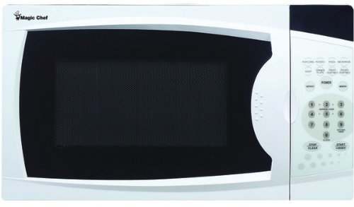 Magic Chef - .7 Cubic-Ft, 700-Watt Microwave With Digital Touch (White) *** Product Description: Magic Chef - .7 Cubic-Ft, 700-Watt Microwave With Digital Touch (White) .7 Cu-Ft Capacity 700W Digital Touch 10 Power Levels Electronic Controls With ***