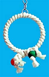 Zoo Max DUS41 Cotton Ring 7in Bird Toy