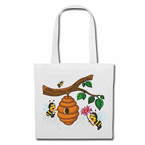 tasche-umhangetasche-lustige-bienen-am-bienenstock-wespe-honig-faltenwespen-hornisse-einkaufstasche-