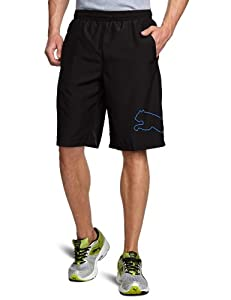PUMA Herren Trainingsshorts Multi Cat, Black/Victoria Blue, S, 508807 22