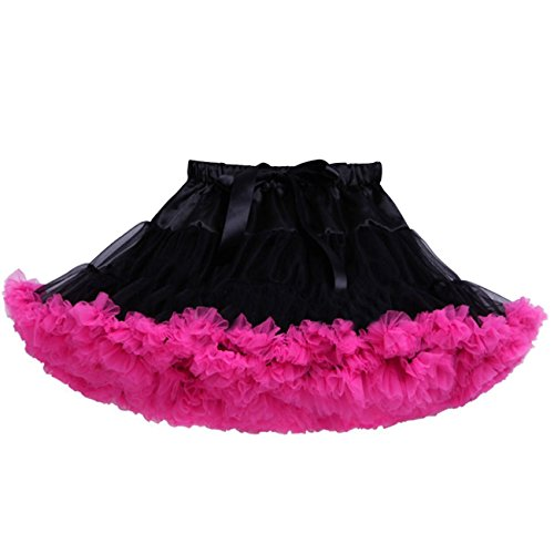 DD-CM Little Girls' Layered Satin Tulle Tutu Mini Pettiskirt Dance Costume