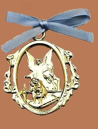 Guardian Angel Crib Medal - 1