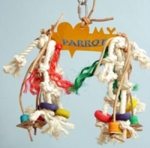 Image of Zoo Max DUS258PS I Love My Parrot 10 in Small Acrylic Bird Toy (B000EIC4Q6)