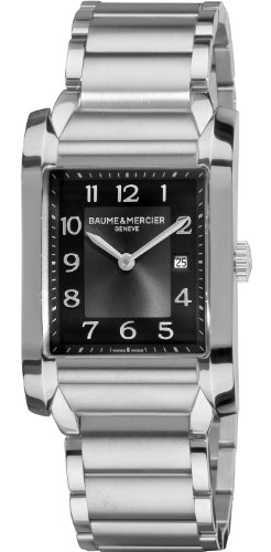 Baume & Mercier Men's 10021 Grey Dial Stainless Steel Watch