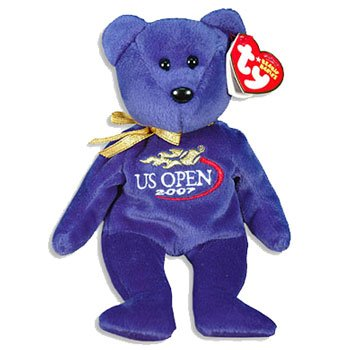 TY Beanie Baby - TOPSPIN the US OPEN Bear (US Open Exclusive) - 1