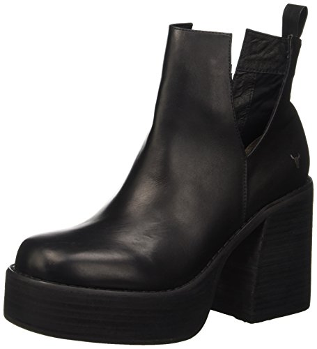 Windsor Smith Listen, Scarpe a Collo Alto Donna, Nero (Black Leather), 38 EU