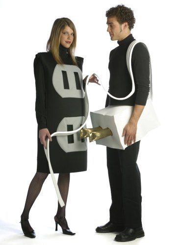 Plus Size Theatre Costumes Couples Costume Plug and Socket Funny Costumes
