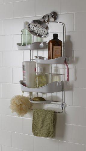Praktisches Badezimmerregal Duschregal Ablage für Shampoo in Dusche Duschablage Umbra Trellis