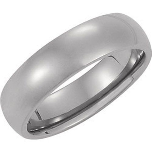 Titanium, Polished Dome Wedding Band (sz 10.5)
