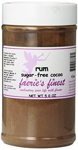 Faeries Finest Sugar-Free Cocoa, Rum, 5 Ounce