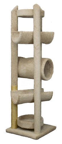 "Molly and Friends ""Sequoia"" Extra-Large 7-Foot-Tall Premium Handmade Cat Tree with Sisal, Beige"