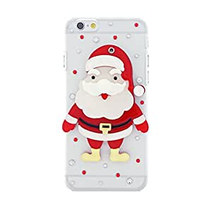 CaseBee® Christmas Series - Cute 3D Full Santa Claus w/ Mirror iPhone 6 (4.7) Case - Handmade Bling Bling Rhinestones - Perfect Gift (Package includes Extra Crystals & Screen Protector)