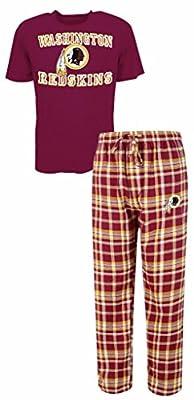 Washington Redskins NFL Men's Shirt and Pajama Pants Flannel PJ Sleep Set