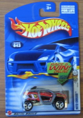Hot Wheels 2002 First Editions Moto-Crossed 31/42 043 RED 1:64 Scale - 1